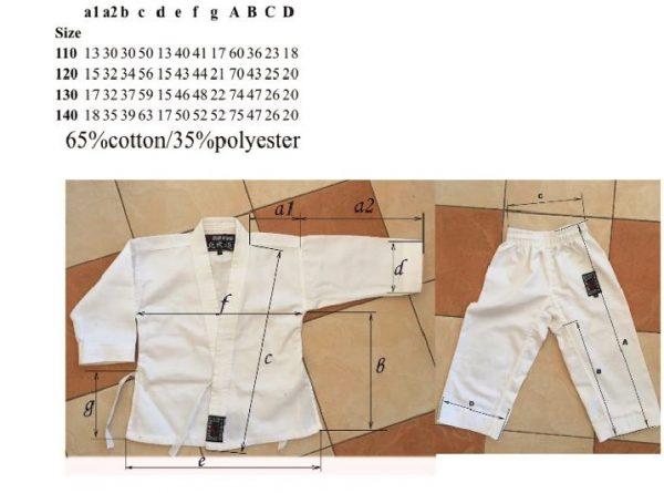 Кимоно эмпи будонорд - размеры в см