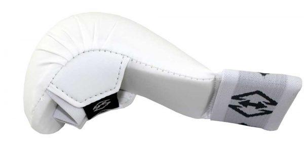 KG201601 Накладки на кисть карате Shotokan белые KHAN