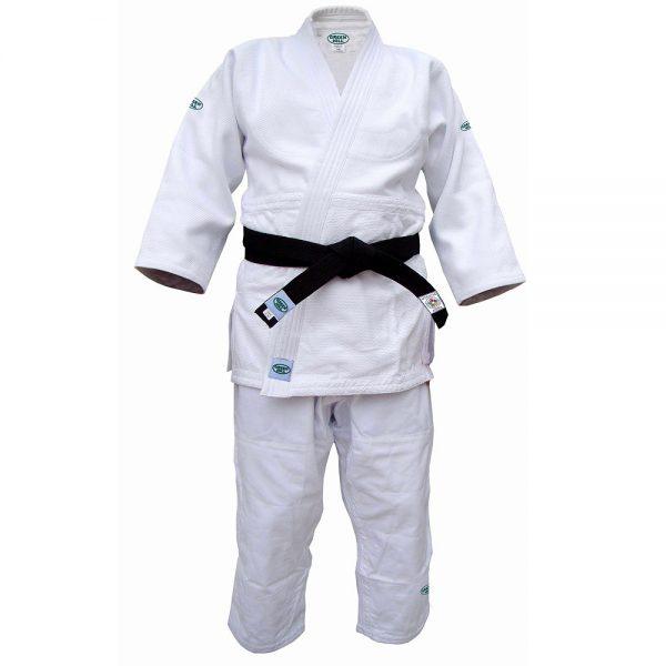 белое плотное тренировочное кимоно дзю до грин-хилл