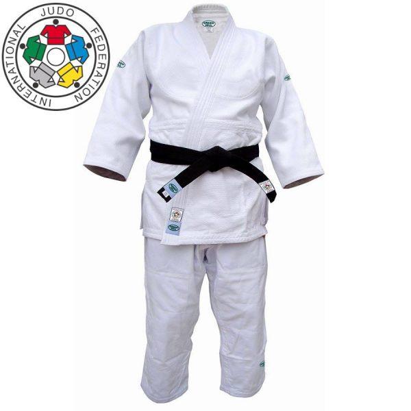 кимоно одобрено ijf дзюдо green hill белое