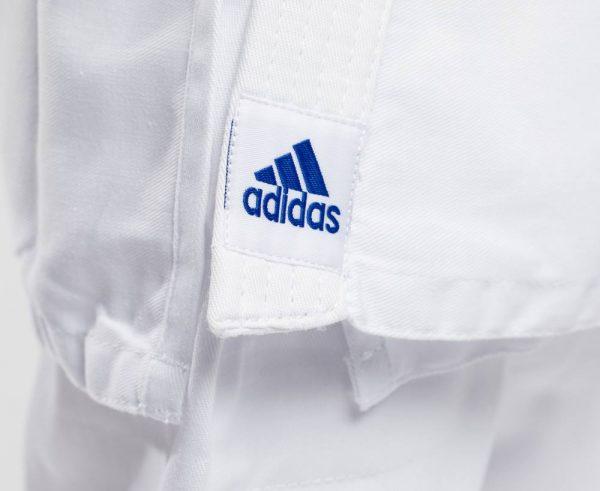 кимоно для дзюдо для детей адидас белое синее