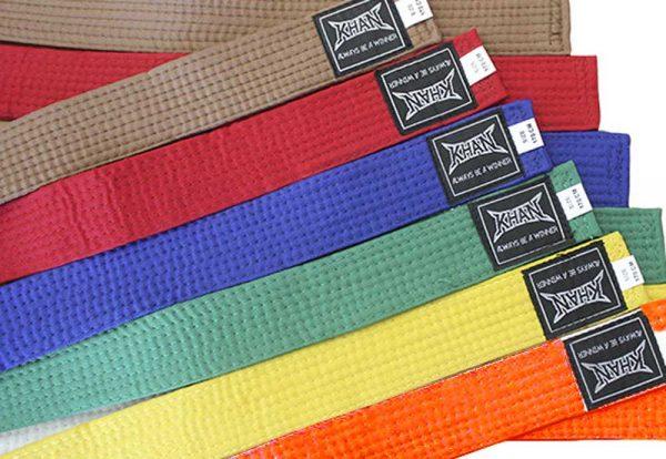 Пояса цветные для единоборств Club в ассортименте KHAN