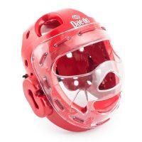 Шлем с маской для тхэквондо WTF и единоборств Daedo (красный / синий )