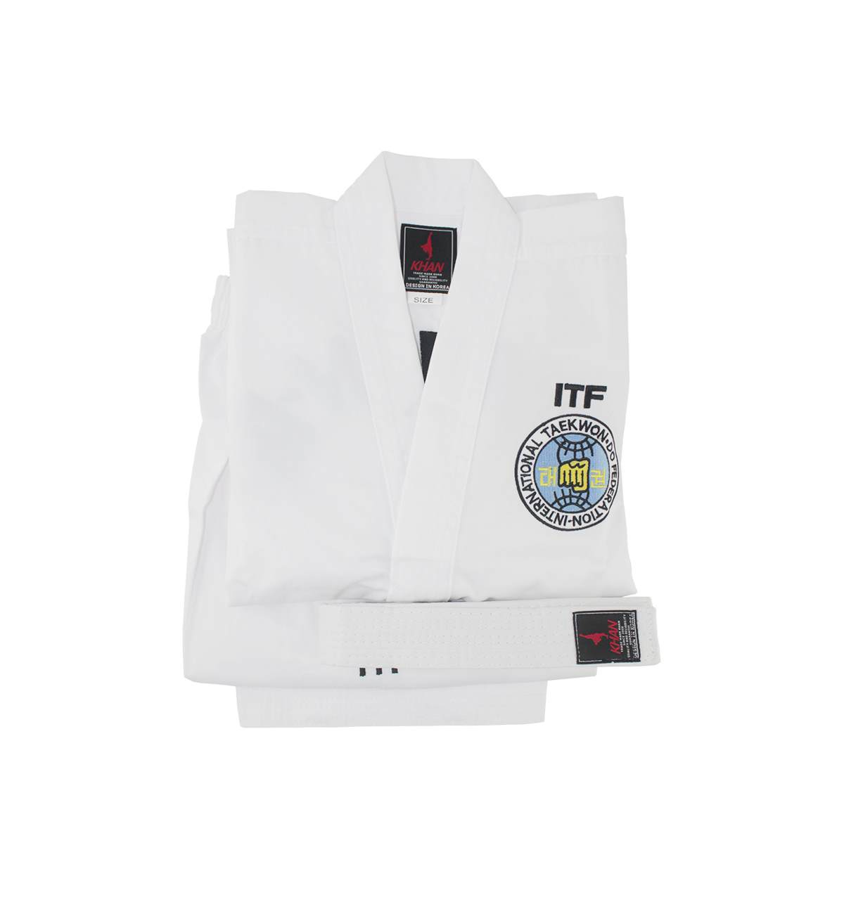 Кимоно таэквондо ИТФ WHITE BELT CLUB KHAN