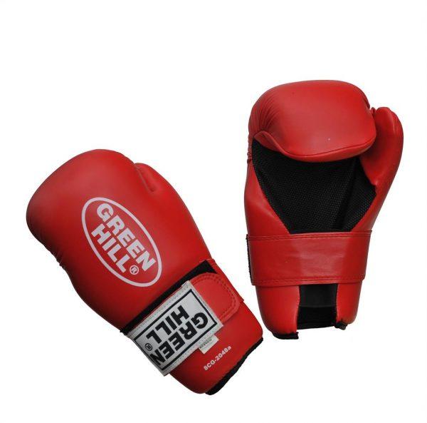 Перчатки для таэквондо ИТФ и кикбоксинга полуконтакт Green Hill