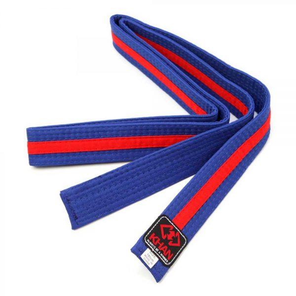 WS12004 Двухцветные пояса для единоборств детские в ассортименте Stripe KHAN