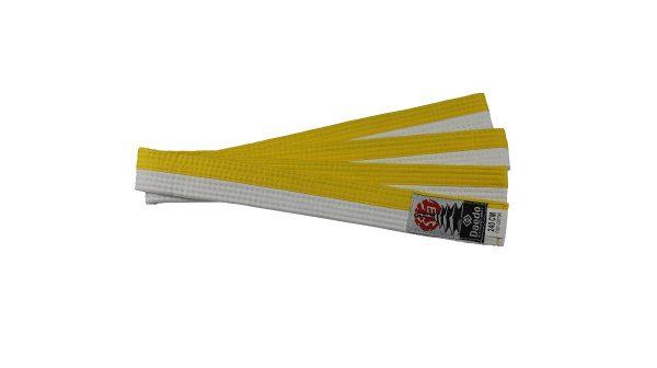 пояс бело желтый тхэквондо