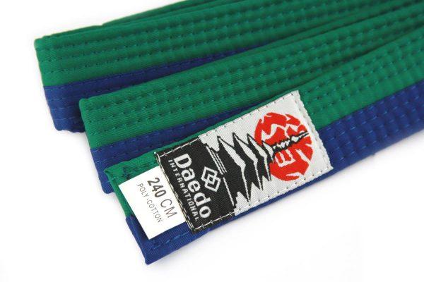 пояс зелено синий тхэквондо