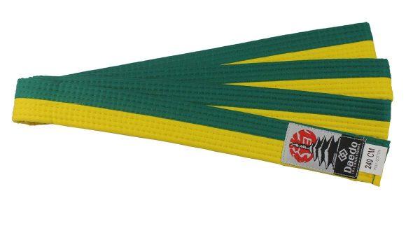 пояс желто зеленый тхэквондо