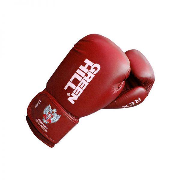 Перчатки боксерские Green Hill Rex, c логотипом Федерации бокса России