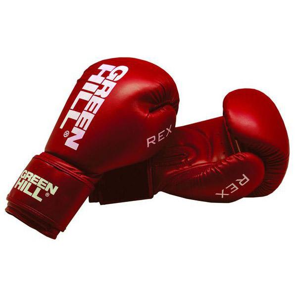 Перчатки боксерские Green Hill Rex, кожа PU