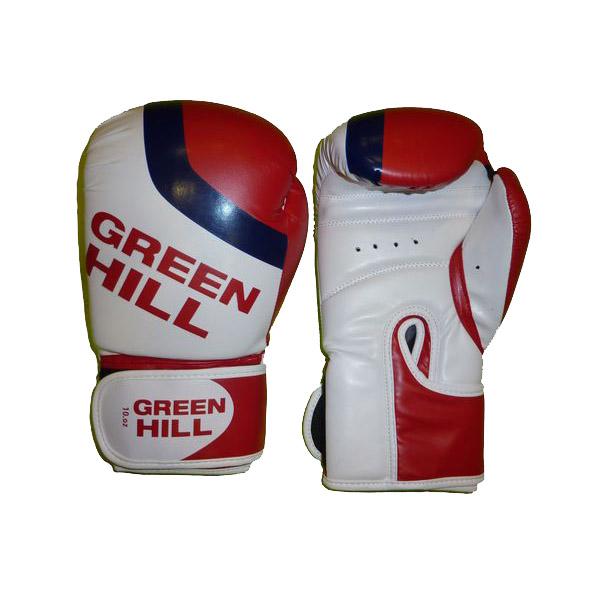 Перчатки боксерские Green Hill Flag, искусственная кожа