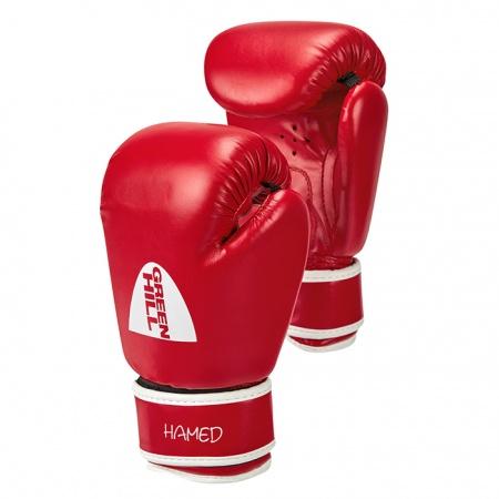 BGHC-2022 Боксерские перчатки HAMED Green Hill для детей синие/красные 6 oz