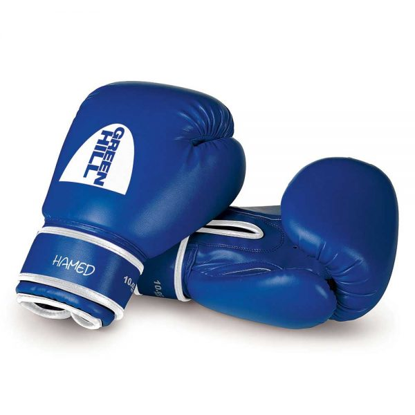 BGHC-2022 Боксерские перчатки для детей синие HAMED Green Hill