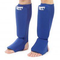 защита голени и стопы для самбо FIAS approved синие