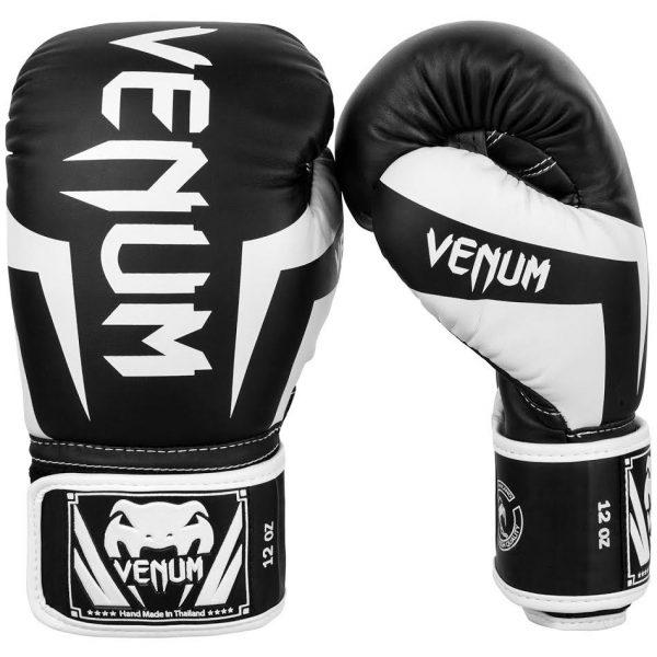 Перчатки боксерские Venum Elite Black/White