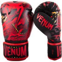 Боксерские перчатки Venum Dragon's Flight Black/Red