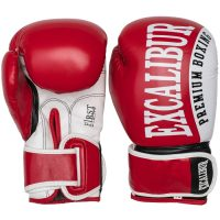 Перчатки боксерские Excalibur 8019-02 Red/White PU