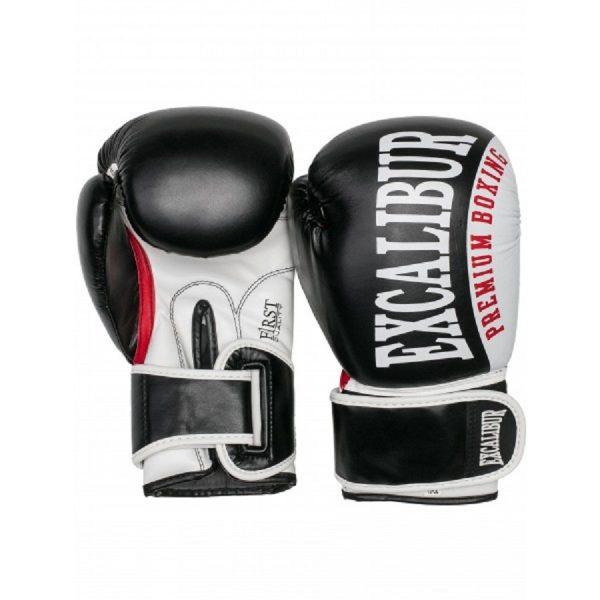 Перчатки боксерские Excalibur 8019-03 Black/White PU