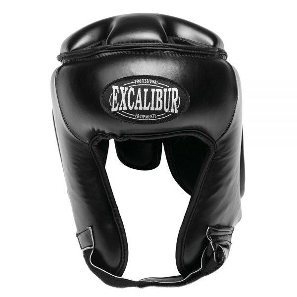 Шлем боксерский Excalibur 723 Black Буйволиная кожа