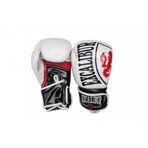 Перчатки боксерские Excalibur 8004-02 White/Black/Red PU