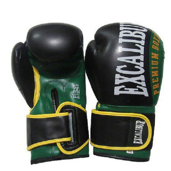 Перчатки боксерские Excalibur 8019-01 Black/Green PU