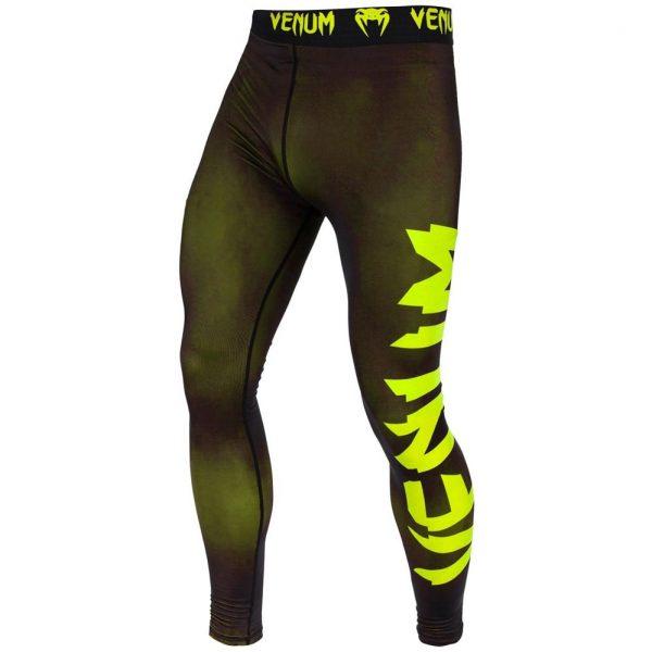 Компрессионные штаны Venum Giant Black/Yellow