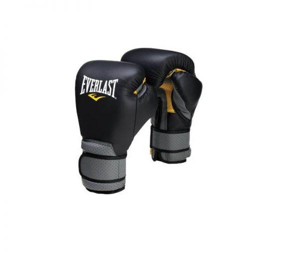 Перчатки тренировочные на липучке Pro Leather Strap EVERLAST