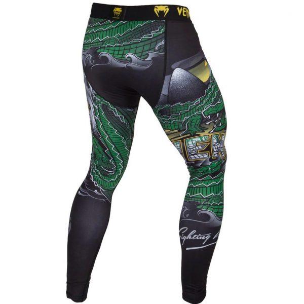 Компрессионные штаны Venum Crocodile Black/Green