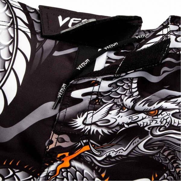 Шорты ММА Venum Dragon's Flight Black/White