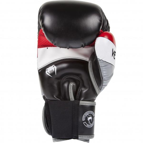 Боксерские перчатки Venum Elite Black/Red/Grey