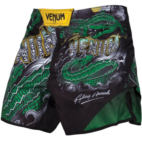 Шорты ММА Venum Crocodile Black/Green