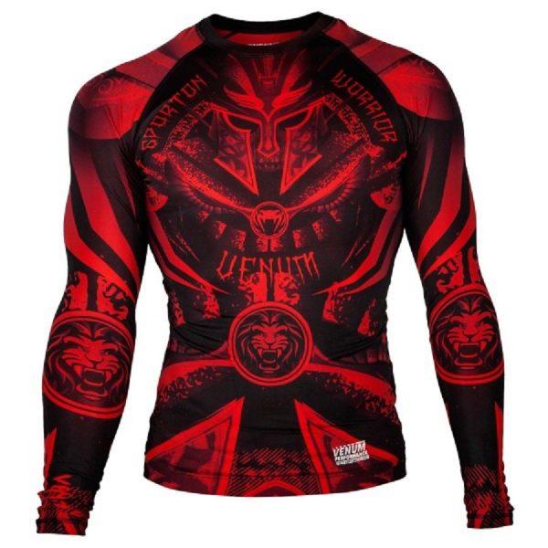 Рашгард Venum Gladiator Black/Red L/S