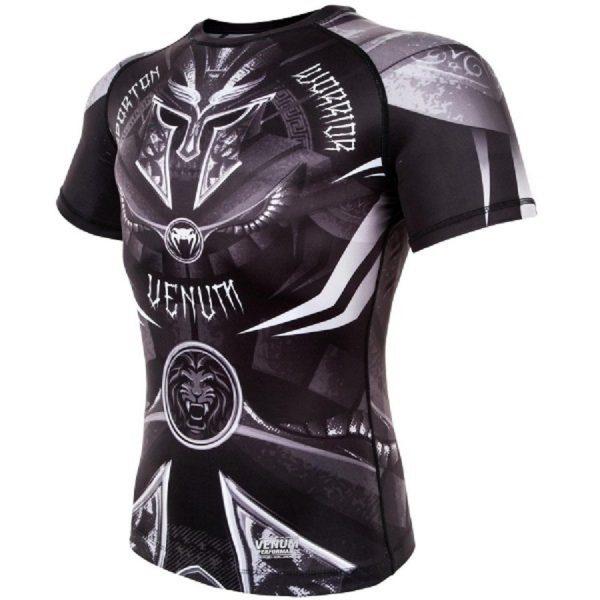 Рашгард Venum Gladiator 3.0 Black/White S/S