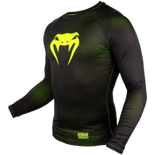 Рашгард Venum Contender 3.0 Black/Yellow L/S