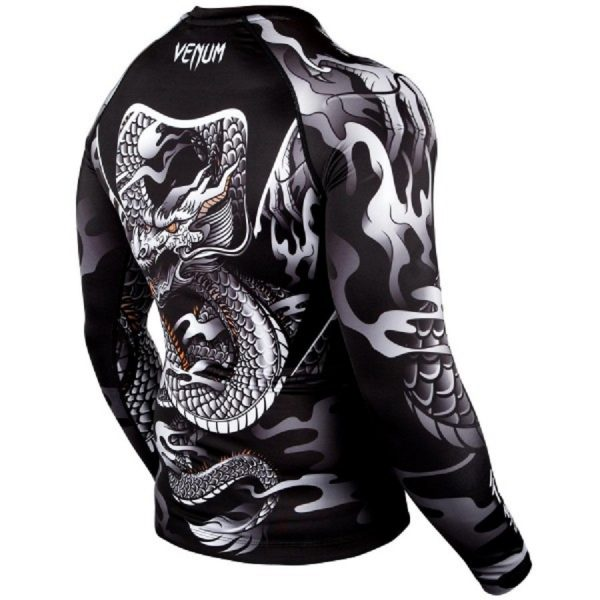Рашгард Venum Dragon's Flight Black/White L/S