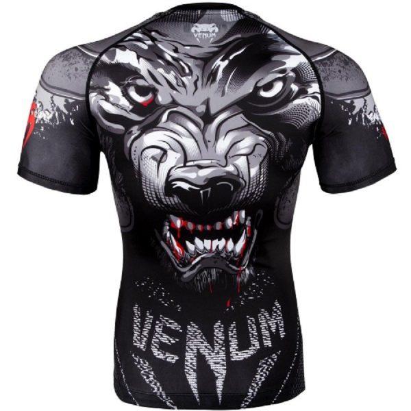 Рашгард Venum Werewolf Black/Grey S/S