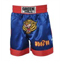 Трусы THAI-BOXING Green Hill, синие+тигр