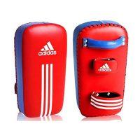 Макивара (подушка защитная) ADIDAS кожа 41*20-22*8 красно-синяя