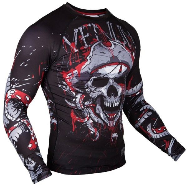 Рашгард Venum Pirate 3.0 Black/Red L/S