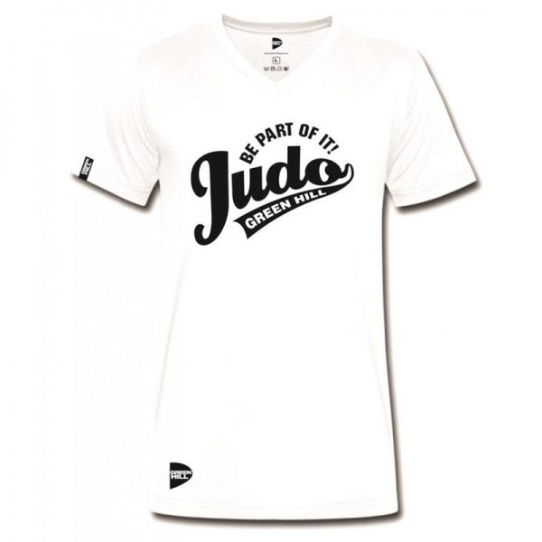 Футболка с рис /JUDO BE PART OF IT/ белый Green Hill