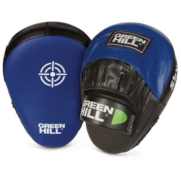 Боксерские лапы SKY (изогнутые) Green Hill