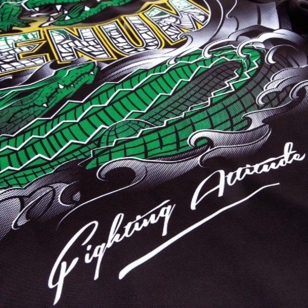 Рашгард Venum Crocodile Black/Green S/S