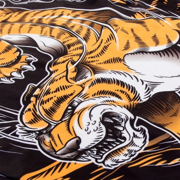 Рашгард Venum Tiger Black/Orange L/S