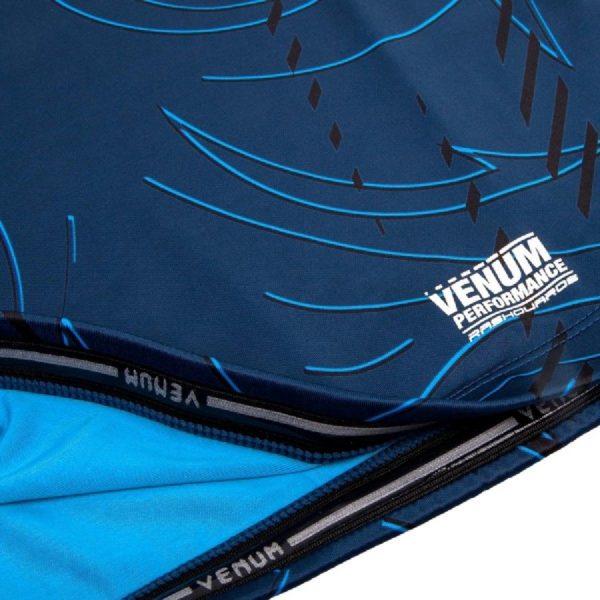 Рашгард Venum Nightcrawler Navy Blue S/S (тренировочная форма)