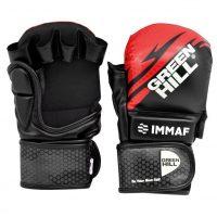 Перчатки MMA IMMAF Green Hill черно-красные/черно-синие