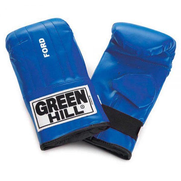 Перчатки снарядные FORD иск.кожа, красные/синие/черные, Green Hill