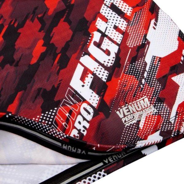 Рашгард Venum Tecmo Red L/S (тренировочная форма)