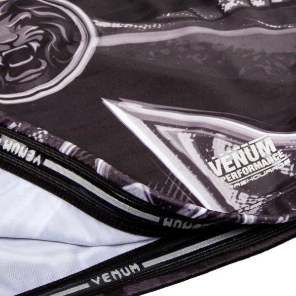 Рашгард Venum Gladiator 3.0 Black/White L/S (тренировочная форма)