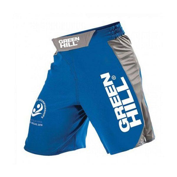 Шорты для MMA GREEN HILL, красные/синие